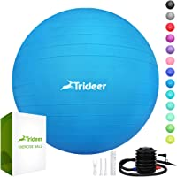 Trideer Exercise Ball (45-85cm) Extra Thick Yoga Ball Chair, Heavy Duty Stability Ball Supports 2200lbs, Birthing Ball…
