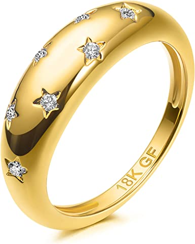 Open Back Adjustable Ring Trendy 18k Gold Plated Croissant Luxury Ring