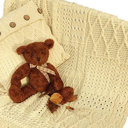 100% Irish Merino Wool Patchwork Blanket 42''x 60'' by Carraig Donn by The Irish Store - Irish Gifts from Ireland