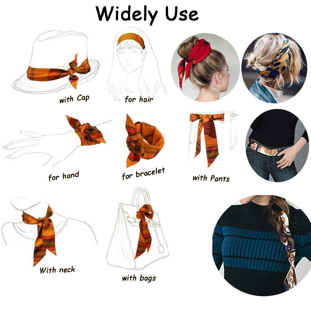 Handbag Tote Hat Daily Decor 33 Inches Multifunction Neckerchief Girls Skinny Neck Ribbon//Band Hair Scarf Breathale Chiffon Neck Ribbon Animal Constellations