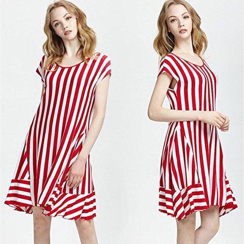 DMMMSS Falda Del Vestido De Manga Corta Pijama De Verano De Las Mujeres Puede Usar El Vestido De Servicio Local Suelta 3