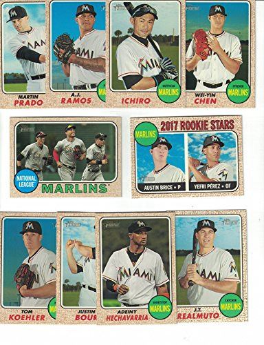 Miami Marlins / Complete 2017 Topps Heritage Baseball Team Set. FREE 2016 TOPPS HERITAGE MARLINS TEAM SET WITH - Toms Miami