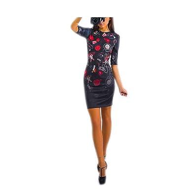 Eloise Isabel Fashion Vestidos de mulheres do partido mais novo NEW belas flores patten mulheres dress