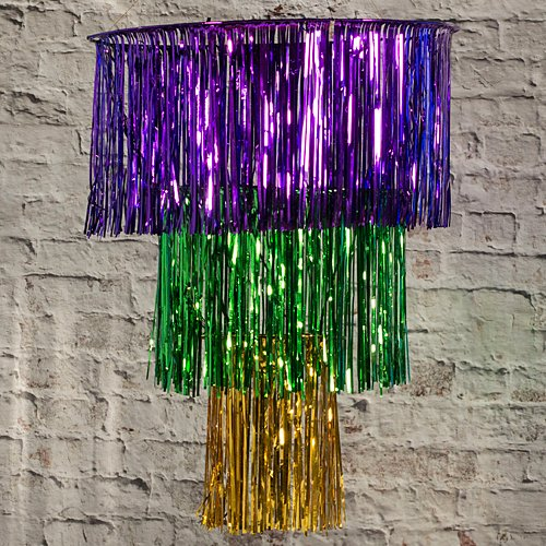 Mardi Gras Masquerade Fringe Chandelier Party Supplies Decorations