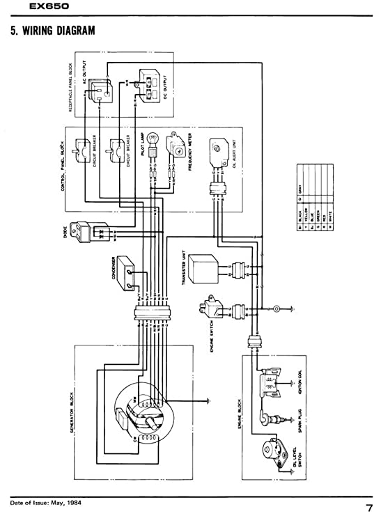 amazon com honda ex650 generator service repair shop manual lawn rh amazon com Honda Motorcycle Wiring Honda Motorcycle Wiring