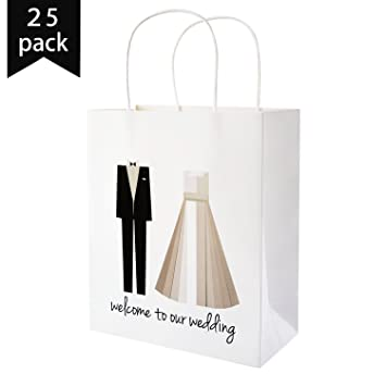 Amazon.com: Crisky Welcome to Our Wedding Bags 25 pcs Welcome ...