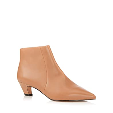 32058cd7883 J by Jasper Conran Womens Camel Leather  Jitty  Kitten Heel Boots Brown   Amazon.co.uk  Shoes   Bags