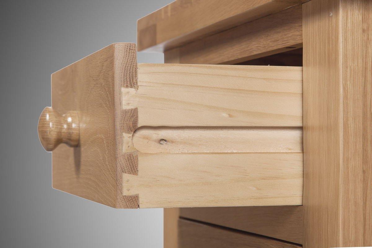Devon Solid Oak 3 Drawer Bedside Table Fully Assembled Beside Cabinet Bedroom Furniture Living Room Furniture Home Furniture