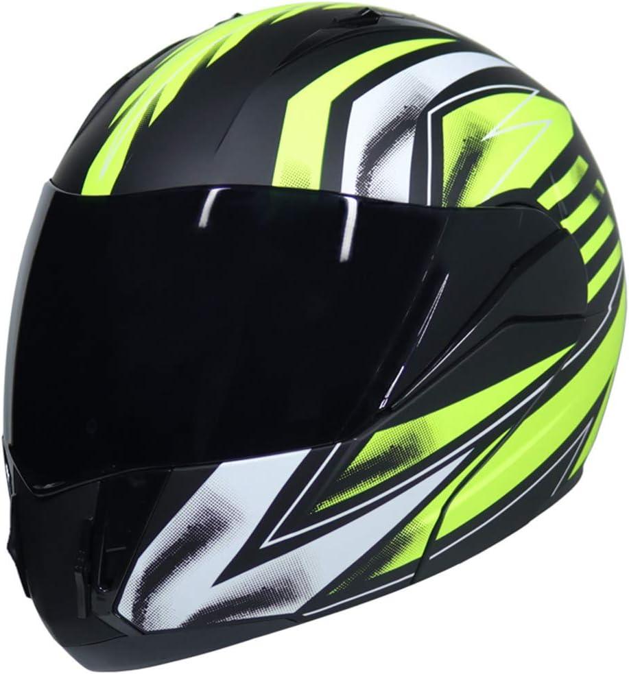 Sportinents Casco para Motocicleta Racing Lente Dual Modular Moto Casco Mover hacia Arriba Cascos integrales