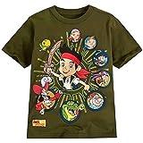 Boys Disney Jake Neverland Pirates Long Sleeve Top T Shirts Kids Size 3-6 Years