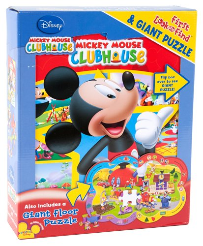 Mickey Mouse Clubhouse First Look and Find Book & 40-Piece Giant ()