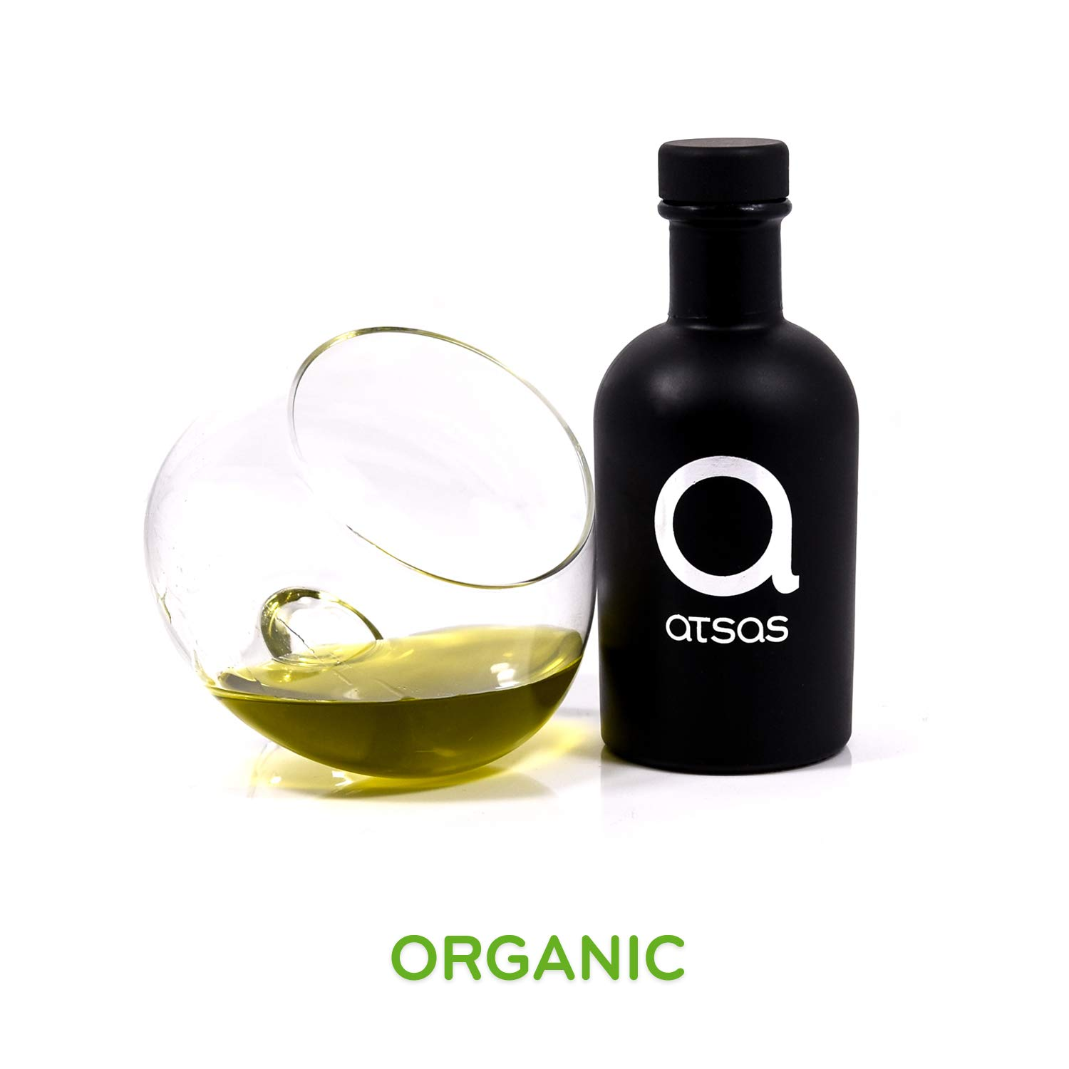 Pure Organic Extra Virgin Olive Oil with High Phenolic Content | Rich in Health-Boosting Phenols and Organic Oleocanthal Compound | Premium Product of Cyprus | Multiple Award-Winning | 100ml by Atsas