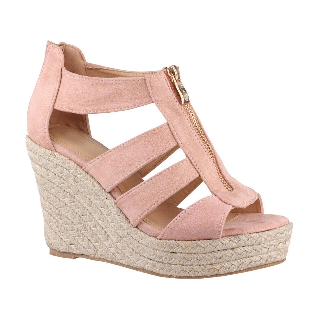 Elara , compensées chaussures 19300 compensées B07HQ4DLMV femme Pink 1 7638d10 - automaticcouplings.space