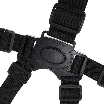 5 Punkt Sicherheitsgurt für Kinder Hochstuhlgurt Kinderschutz Schulterpolster