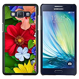 - RED FLOWERS FLORAL BLOSSOM COLORFUL SPRING - Caja del tel¨¦fono delgado Guardia Armor- For Samsung Galaxy A5 A5000 A5009 Devil Case