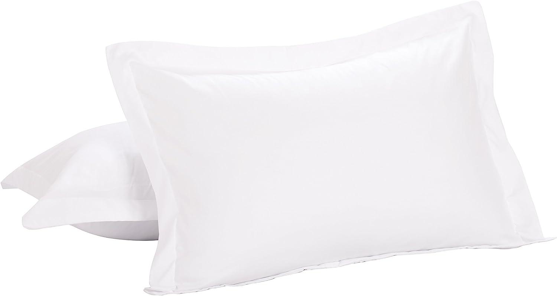 Levinsohn Textile Microfiber Sham 2-Inch Flange, Standard/Queen, White, 2- Pack: Amazon.es: Hogar