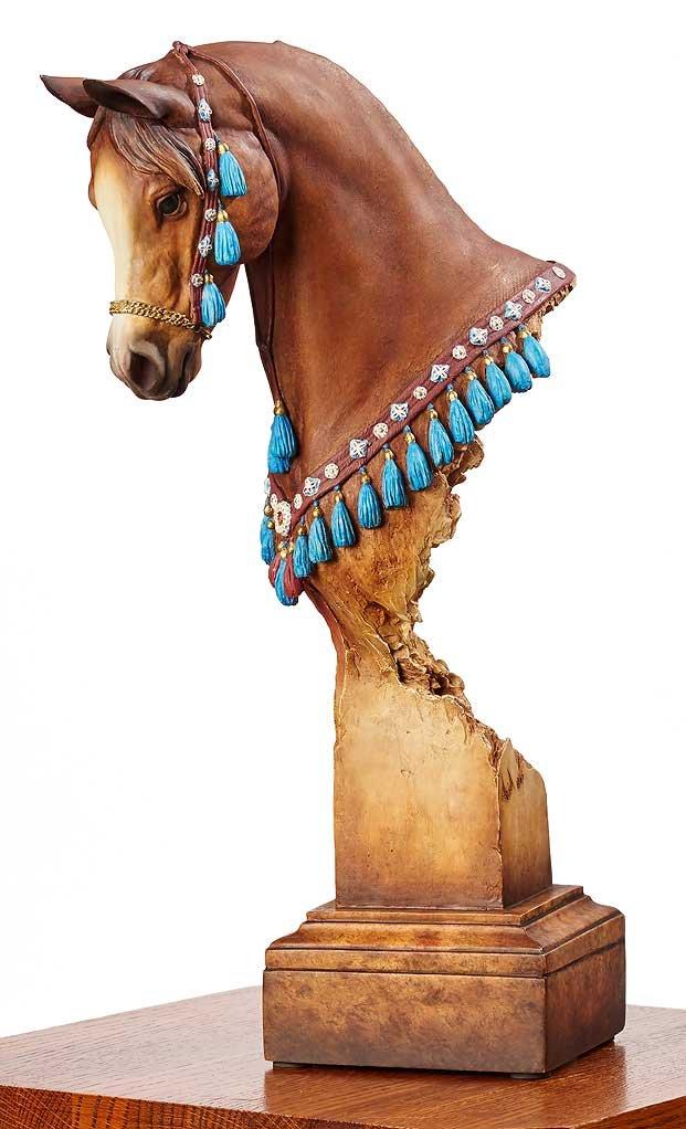 Wild Wings Nobility - Arabian Horse Sculpture by Arich Harrison