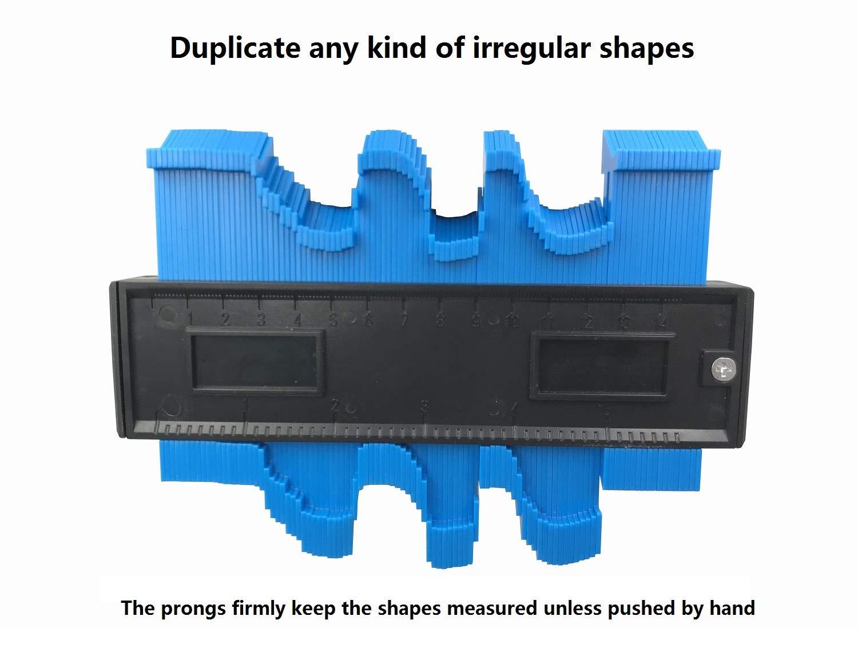 Hyber/&Cara Jauge de Profil de Contour Plastique Contour Duplicateur 150mm