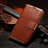 Brown luxury Flip magnetic PU Leather Case slot Wallet Cover Stand for Samsung Galaxy Alpha Alfa G850 G850F