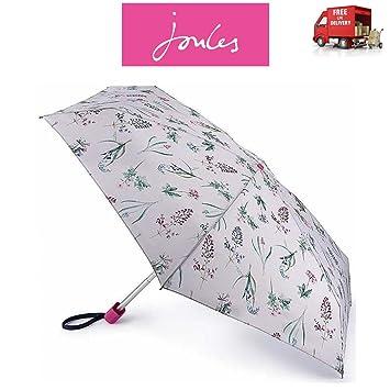Joules Botanical Bulbs - Paraguas Plegable con diseño Floral (tamaño pequeño)