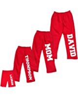 Footsteps Clothing Personalized Holiday Fleece Red Pants For Whole Family