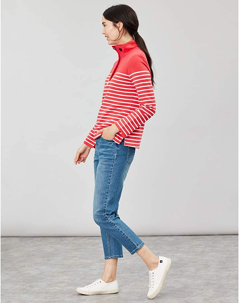 Joules saunton Felpa Classica Donna 208814 Red Cream Stripe