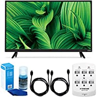 Vizio D-Series D32hn-E1 32 Class Full-Array LED TV w/ Accessory Bundle includes TV, 2 6ft High Speed HDMI Cables, Universal Screen Cleaner and 6 Outlet Wall Tap w/ 2 USB Ports