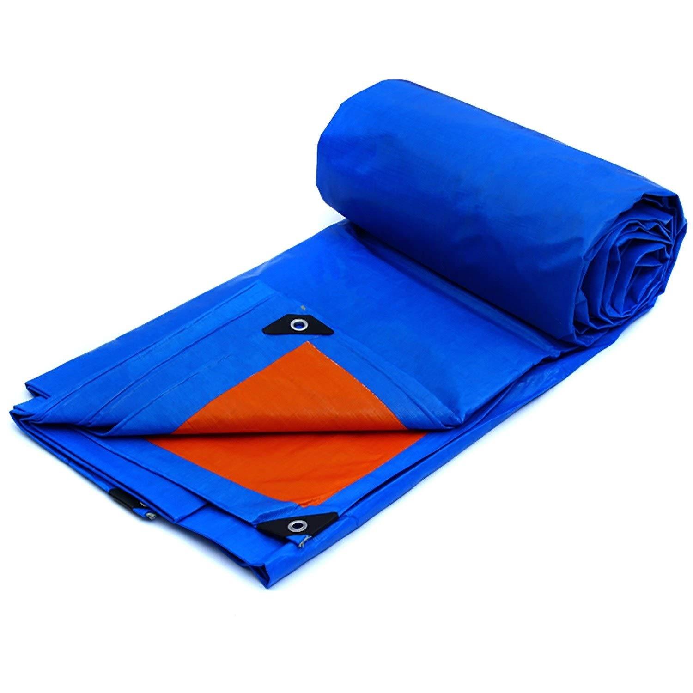 防雨防水シート 透明な証拠の防水シートの明確な防水シート、パーゴラのおおいの植物カバー屋外のリバーシブルの錆および紫外線抵抗力がある保護シート (Color : Blue, Size : 24x30ft/8x10m) B07SL4WZNR Blue 24x30ft/8x10m