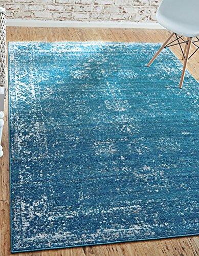 Unique Loom Sofia Collection Blue 9 x 12 Area Rug