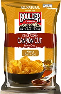 product image for Boulder Canyon Kettle Cooked Potato Chips, Honey Bar-B-Que, 6.5 Ounce (Pack of 12)