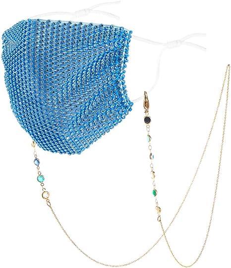 PASTEL STARS Mickey Mask Chain Beaded Holder  Chain  Lanyard DISNEY