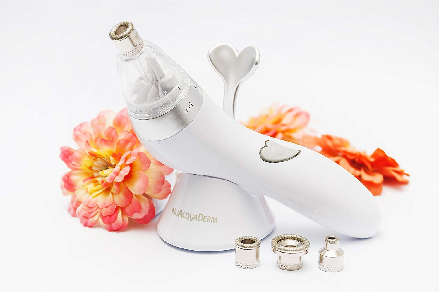 NuAcquaDerm Personal Diamond Microdermabrasion at Home System for Anti-aging and Exfoliation: Fresh, Rejuvenated Skin with Improved Tone, Texture and Elasticity