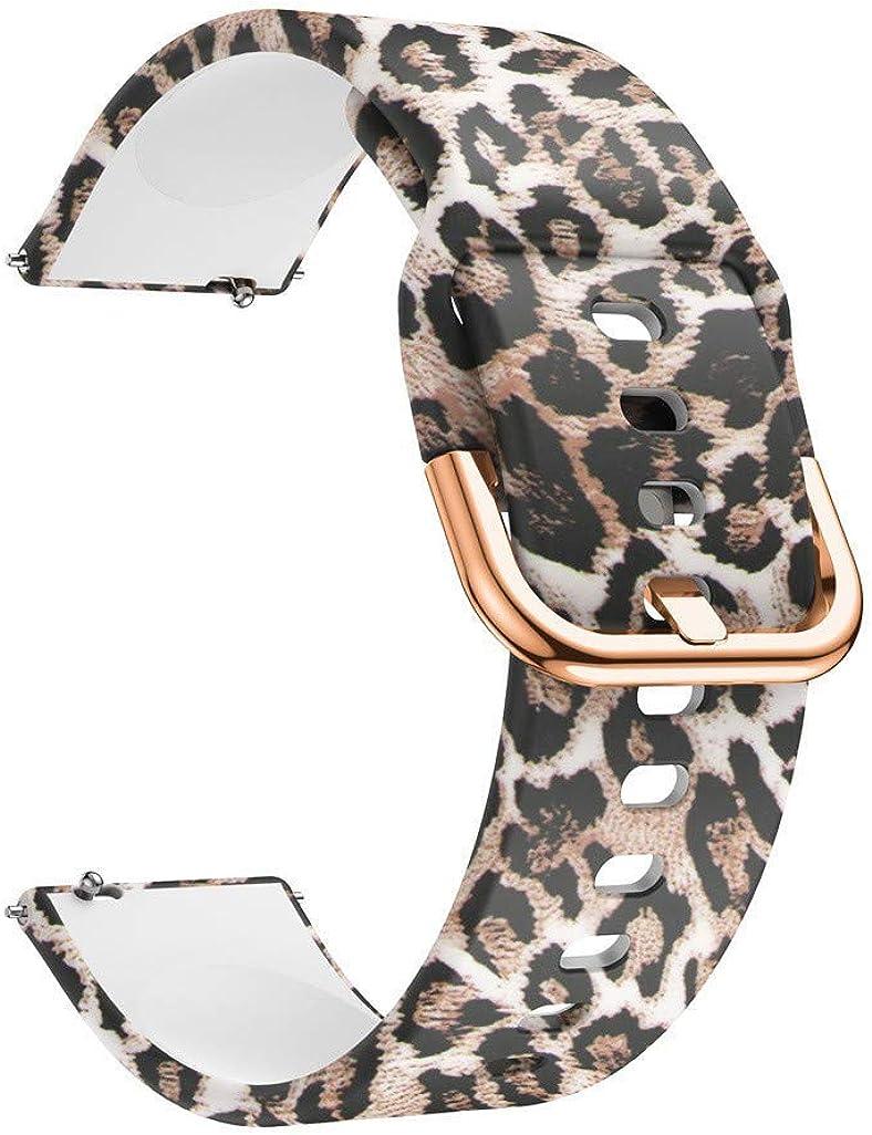 Correas para Relojes, Hanyixue Compatible con Samsung Galaxy Watch 42mm/Active 40mm, Pulsera de Repuesto Correa de Silicona para Hombres, Mujeres