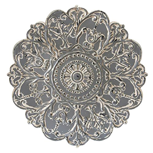 Stratton Home Decor S07730 Medallion Wall Decor, Grey (Decor Medallion Wall Metal)