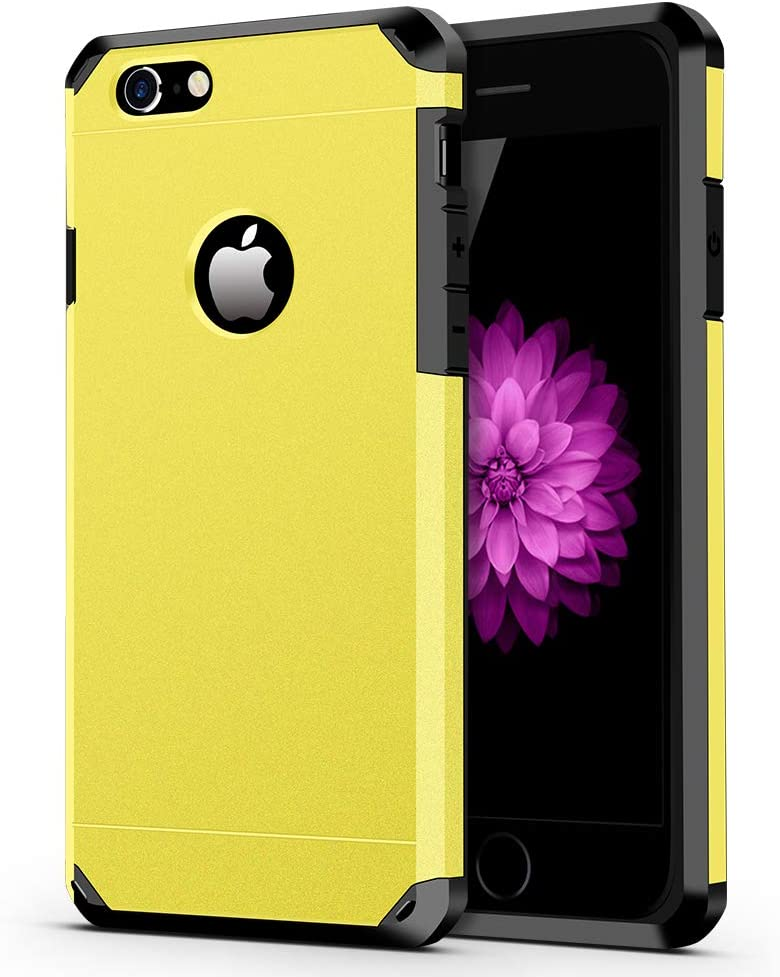 iPhone 6 / 6s Case, ImpactStrong Heavy Duty Dual Layer Protection Cover Heavy Duty Case for Apple iPhone 6 / 6s (Yellow)