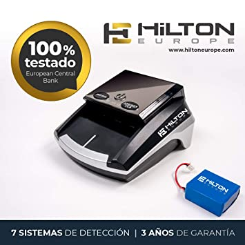 HILTON EUROPE HE-300SD Detector Billetes Falsos actualizable portátil con batería actualizado a los nuevos billetes 100 y 200 € con 7 sistemas de detección: ...