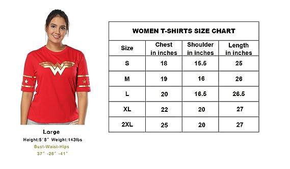 Justice League Wonder Women Golden Foil T-Shirt – Short Sleeved Women,  Girls Wear - Junior Size