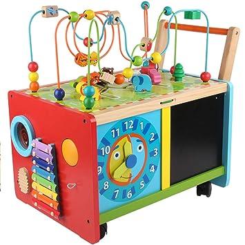 Sûr et respectueux de lenvironnement Jouet en bois pour tout-petits bébé pousser le long du jouet pour les enfants Décoration de la maison
