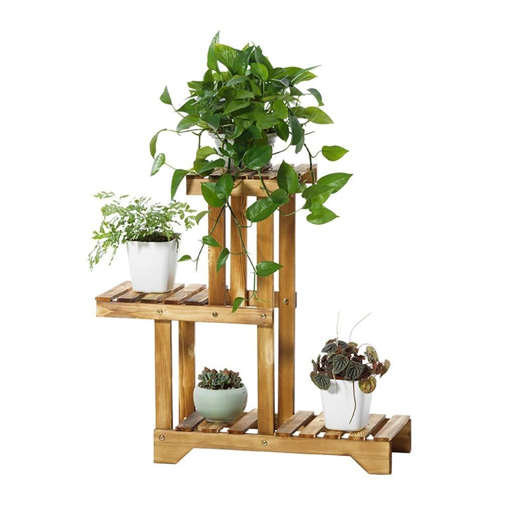 FPigSHS Flower Stand Soggiorno Balcone Interno ed Esterno Piccola mensola in Legno