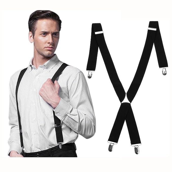 Mens Ladies Fancy Dress 35mm Wide Clip On Adjustable Braces Trouser Suspenders