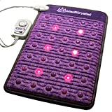 Far Infrared Amethyst Mat + Natural Agate Gems - FIR Heat - Negative Ion - Red Light Photon Therapy - 10Hz PEMF Bio Magnetic Pulsation - FDA Registered Manufacturer - Purple (Mini 32''L x 20''W)