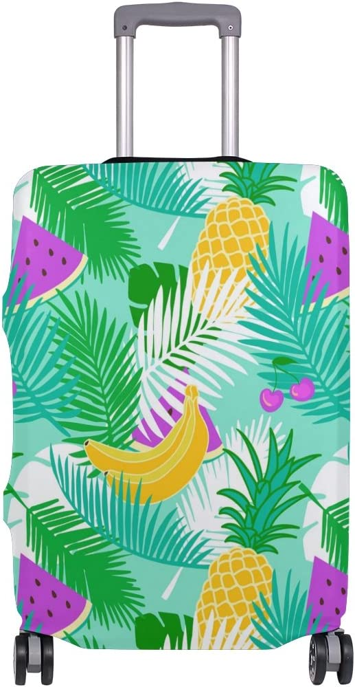 OREZI 3D Tropical Floral Fruit Luggage Protector Suitcase Cover 18-32 Inch