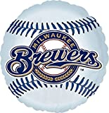 "Anagram International Milwaukee Brewers Package Party Balloons, 18"", Multicolor"