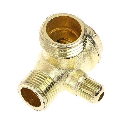 ZChun - Compresor de aire metálico (3 vías, con rosca exterior), color