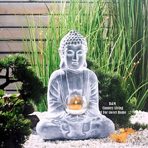Amazon Com Lbylyh Home Garden Decor Ornament Gift Vintage Zen Buddha Statue Candlestick Outdoor Garden Courtyard Decoration Gardening Landscape Ornaments Home Kitchen