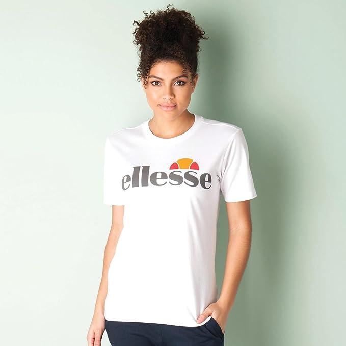 327f0278 ellesse Womens Logo T-Shirt in White