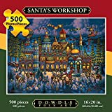 Jigsaw Puzzle - Santa's Workshop 500 Pc By Dowdle Folk Art