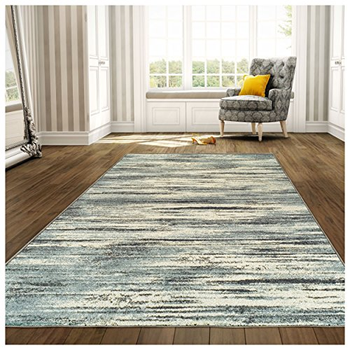 Superior Striped Ashford Area Rug, 5 x 8 , Blue