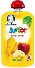 Gerber Junior Snack Frutas Mixtas, Etapa 4 (Paquete de 12)