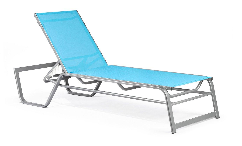 Amazon.com : Pavilion Basics Stacking Chaise Lounge, Satin Sliver : Patio  Lounge Chairs : Garden U0026 Outdoor